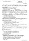 ĐỀ KIỂM TRA CHẤT LƯỢNG ÔN THI ĐẠI HỌC LẦN 3 MÔN HÓA HỌC - THPT QUỲNH LƯU 1