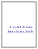 7 bí kíp dành cho những Agency tham gia đấu thầu