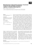 Báo cáo khoa học: Mycobacterium tuberculosis possesses a functional enzyme for the synthesis of vitamin C, L-gulono-1,4-lactone dehydrogenase