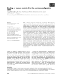 Báo cáo khoa học: Binding of human centrin 2 to the centrosomal protein hSfi1