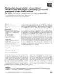 Báo cáo khoa học: Biochemical characterization of recombinant dihydroorotate dehydrogenase from the opportunistic pathogenic yeast Candida albicans