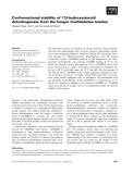 Báo cáo khoa học: Conformational stability of 17b-hydroxysteroid dehydrogenase from the fungus Cochliobolus lunatus