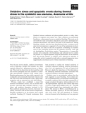 Báo cáo khoa học: Oxidative stress and apoptotic events during thermal stress in the symbiotic sea anemone, Anemonia viridis