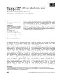 Báo cáo khoa học: Charging of tRNA with non-natural amino acids at high pressure