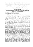 BÁO CÁO TÓM TẮT TÌNH HÌNH HOẠT ĐỘNG NGÀNH CÔNG NGHIỆP VÀ THƯƠNG MẠI  THÁNG 11 VÀ 11 THÁNG NĂM 2012