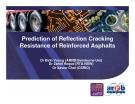 Prediction of Reflection Cracking Resistance of Reinforced Asphalts - Dr Binh Vuong (ARRB/Swinburne Uni)