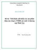 """Báo cáo thực tập - Đề tài: """"Tình hình xuất khẩu các sản phẩm thép của công ty TNHH sản xuất và thương mại Minh Sơn"""""""