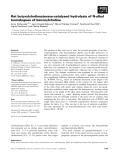 Báo cáo khoa học: Rat butyrylcholinesterase-catalysed hydrolysis of N-alkyl homologues of benzoylcholine