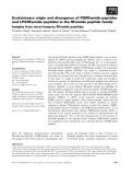 Báo cáo khoa học: Evolutionary origin and divergence of PQRFamide peptides and LPXRFamide peptides in the RFamide peptide family