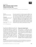 Báo cáo khoa học: DNA mismatch repair system Classical and fresh roles