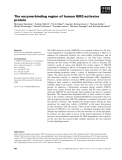 Báo cáo khoa học: The enzyme-binding region of human GM2-activator protein