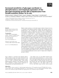 Báo cáo khoa học: Increased sensitivity of glycogen synthesis to phosphorylase-a and impaired expression of the glycogen-targeting protein R6 in hepatocytes from insulin-resistant Zucker fa ⁄ fa rats