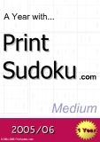 trò chơi ô số  A year with Print Sudoku medium