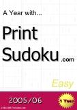 trò chơi ô số  A year with Print Sudoku  easy