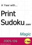 trò chơi ô số  A year with Print Sudoku magic
