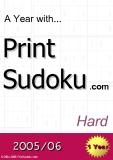 trò chơi ô số  A year with Print Sudoku hard