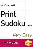 trò chơi ô số  A year with Print Sudoku very easy