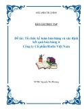 Báo cáo thực tập: Tổ chức kế toán bán hàng và xác định kết quả bán hàng ở  Công ty Cổ phần Rodis Việt Nam