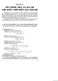 Bài giảng số 7 : Bất đẳng thức và giá trị của hàm số