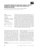 Báo cáo khoa học: Tryptophan 243 affects interprotein contacts, cofactor binding and stability in D-amino acid oxidase from Rhodotorula gracilis