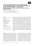 Báo cáo khoa học: Occurrence of glucosylsucrose [a-D-glucopyranosyl-(1fi2)-a-D-glucopyranosyl-(1fi2)-b-D-fructofuranoside] and glucosylated homologues in cyanobacteria Structural properties, cellular contents and possible function as thermoprotectants