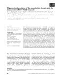 Báo cáo khoa học: Oligomerization states of the association domain and the holoenyzme of Ca2+ ⁄CaM kinase II