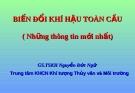 BIẾN ĐỔI KHÍ HẬU TOÀN CẦU - GS.TSKH Nguyễn Đức Ngữ - Trung tâm KHCN Khí tượng Thủy văn và Môi trường