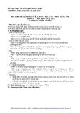 MA TRẬN ĐỀ KIỂM TRA 1 TIẾT LẦN 3 – HỌC KỲ 2 –  MÔN TIẾNG ANH  KHỐI 11  –  NĂM HỌC: 2011 - 2012 (CHƯƠNG TRÌNH CHUẨN ) Mã đề 570