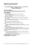 ĐỀ KIỂM TRA 1 TIẾT LẦN 3 – HỌC KỲ 2 –  MÔN TIẾNG ANH  KHỐI 11 (Mã đề 169)