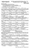 Bài kiểm tra kiến thức môn hóA học lớp 12 - 1112 - Trường THPT Chuyên Khoa học Tự nhiên -  mã đề 536
