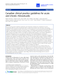 Canadian clinical practice guidelines for acute and chronic rhinosinusitis