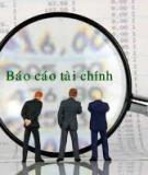 Tài liệu môn phân tích báo cáo tài chính