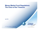 Money Market Fund Regulations: The Voice of the Treasurer
