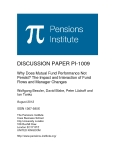 DISCUSSION PAPER PI-1009:   Why Does Mutual Fund Performance Not  Persist? The Impact and Interaction of Fund  Flows and Manager Changes