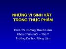 NHỮNG VI SINH VẬT  TRONG THỰC PHẨM