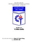 Bài báo cáo vi điều khiển - Trường cao đẳng kỹ thuật Cao Thắng