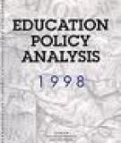 Education Policy Analysis 1998