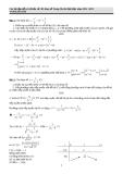 Các bài tập dể và khó cơ bản về khảo sát hàm số  trong ôn thi đại học năm 2012- 2013