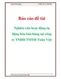 Đề tài  Nghiên cứu hoạt động tự động hóa bán hàng tại công ty TNHH TMTH Tuấn Việt