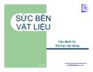 Bài giảng Sức bền vật liệu (ĐH Xây dựng) - Chương 6 Thanh chịu uốn phẳng
