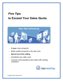 Five Tips   to Exceed Your Sales Quota