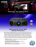 PowerLite®  Pro Cinema 6010 HOME THEATER PROjEcTOR
