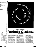 MARCEL DUCHAMP'S ANEMIC - CINEMA