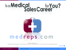 IS A MEDICAL SALES CAREER FOR YOU?
