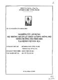 Nghiên cứu áp dụng hệ thống quản lý chất lượng đồng bộ theo hướng Iso:9000:2000 tại bệnh viện Bà Rịa