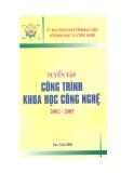 Ebook Tuyển tập công trình khoa học công nghệ 2002 - 2005 - UBND tỉnh Bạc Liêu