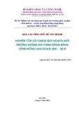 Nghiên cứu xây dựng quy hoạch môi trường không khí vùng Đồng bằng sông Hồng giai đoạn 2001- 2010