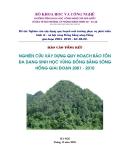 Báo cáo: Nghiên cứu xây dựng quy hoạch bảo tồn đa dạng sinh học đất vùng Đồng bằng sông Hồng giai đoạn 2001- 2010