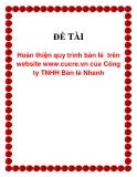 Đề tài Hoàn thiện quy trình bán lẻ  trên website www.cucre.vn của Công ty TNHH Bán lẻ Nhanh