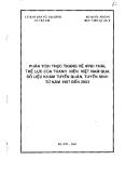 Phân tích thực trạng về hình thái, thể lực của thanh niên Việt Nam qua số liệu khám tuyển quân, tuyển sinh từ năm 1987 đến 2003
